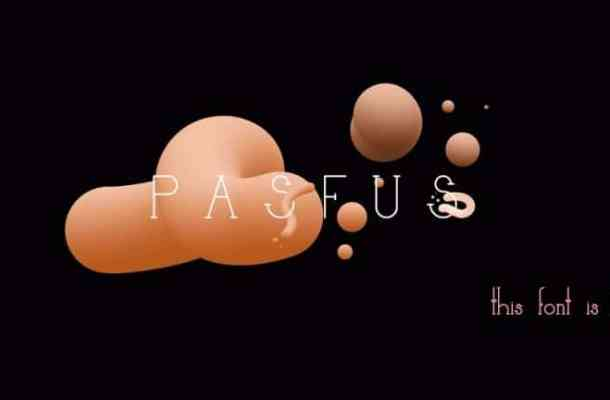 Pasfus Display Font Free