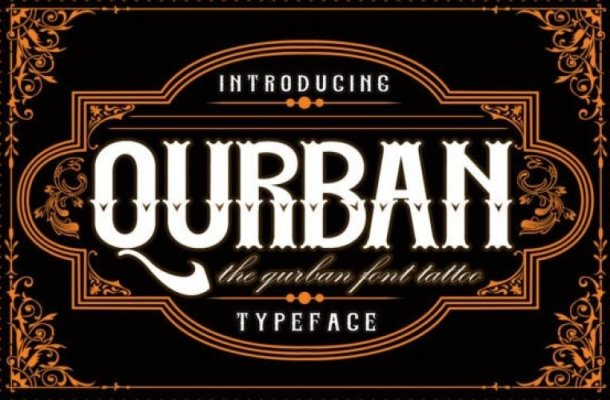 Qurban Blackletter Font