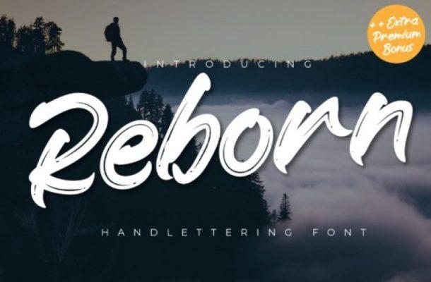 Reborn Brush Font Free