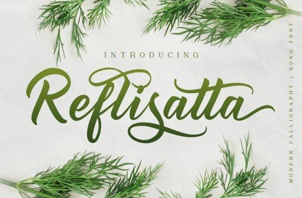 Reflisatta Script Font Free