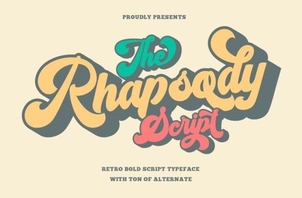 Rhapsody Script Font Free