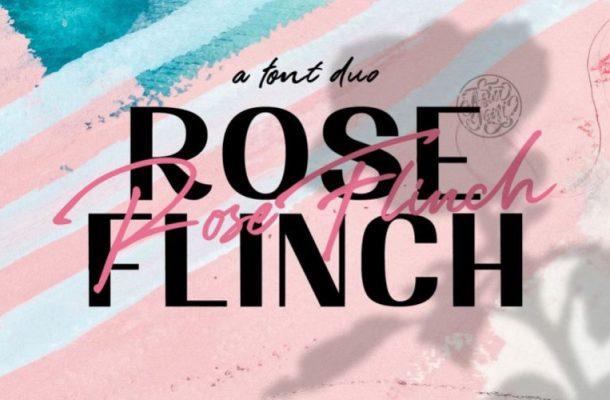 Rose Flinch Font Duo Free