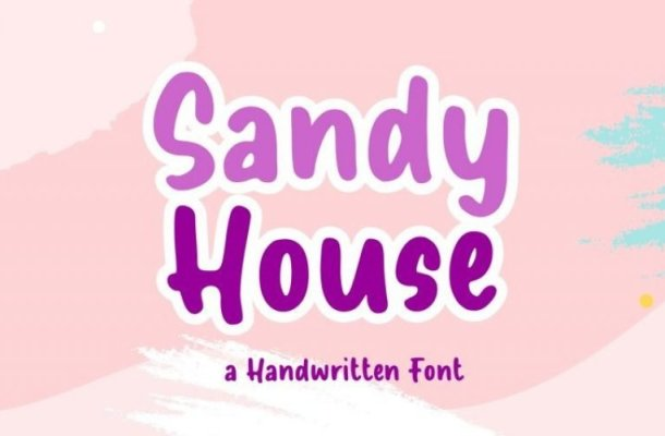 Sandy House Display Font