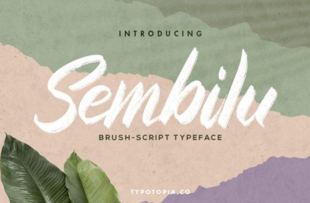 Sembilu Brush Font Free