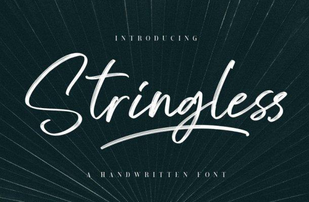 Stringless Brush Font Free