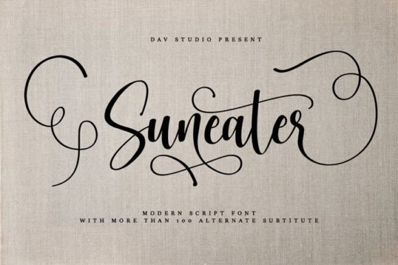 Suneater Calligraphy Font Free