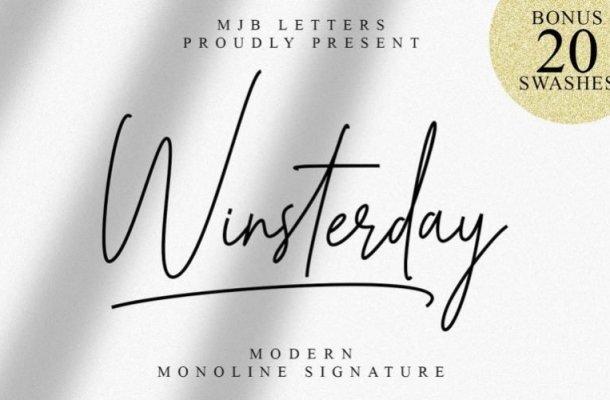 Winsterday Handwritten Font