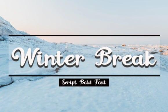 Winter Break Calligraphy Font