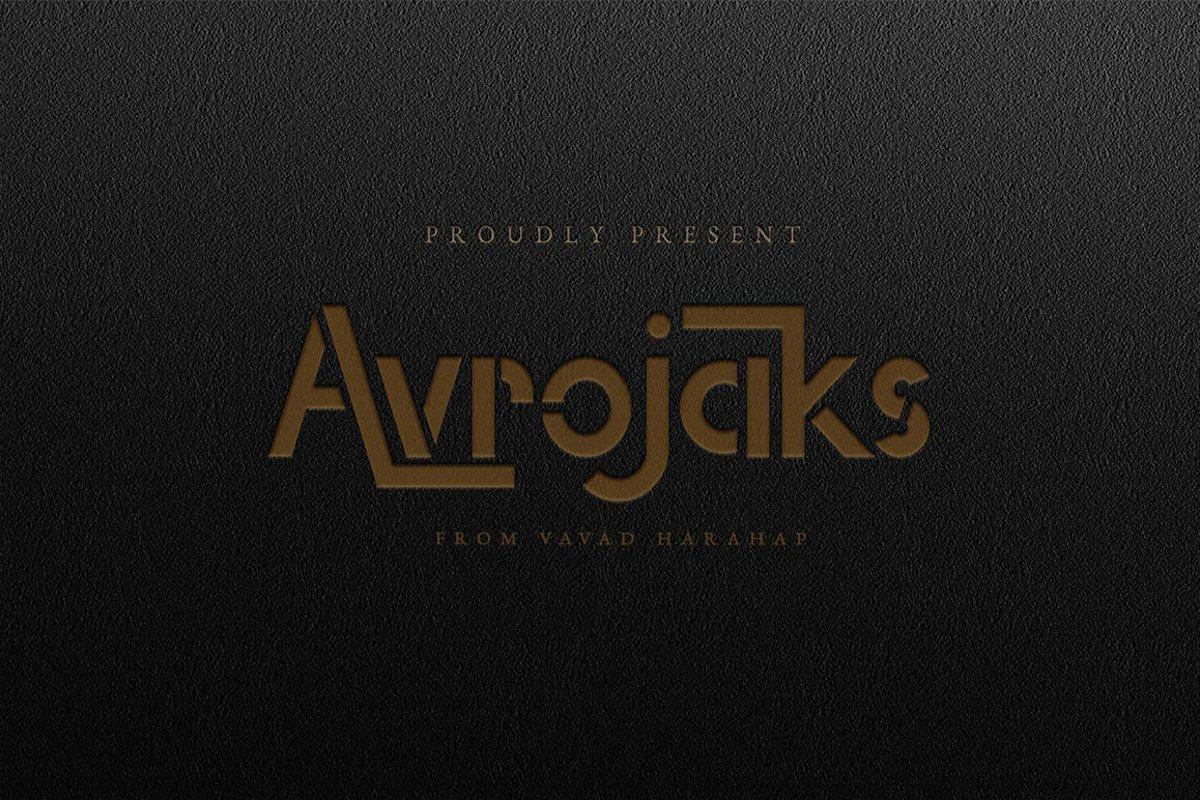 Avrojaks-Font
