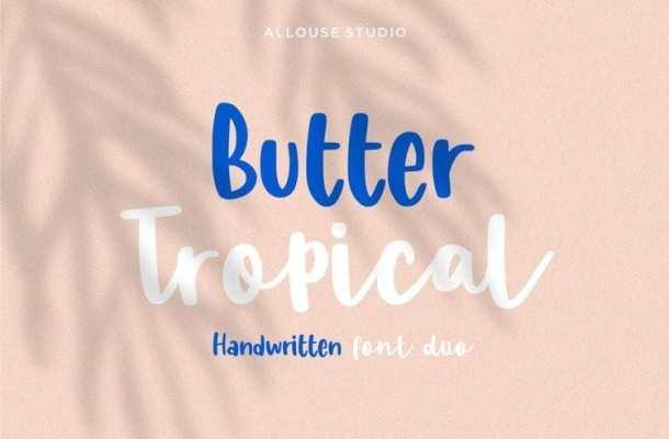 Butter Tropical Script Font