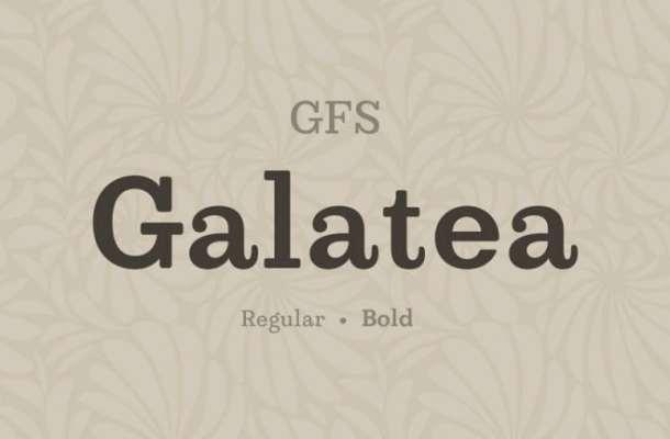GFS Galatea Slab Serif Font