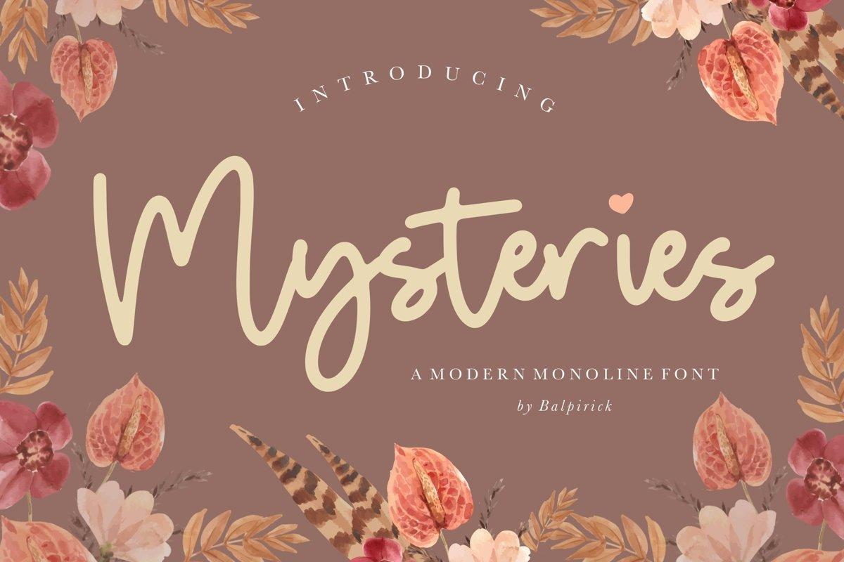 Mysteries-Font