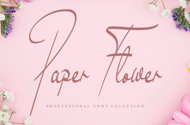 Paper Flower Handwritten Font