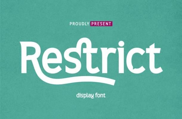 Restrict Display Font