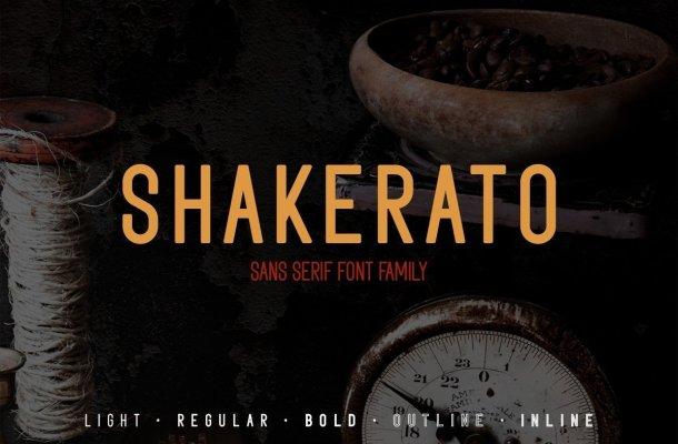 Shakerato Font Family