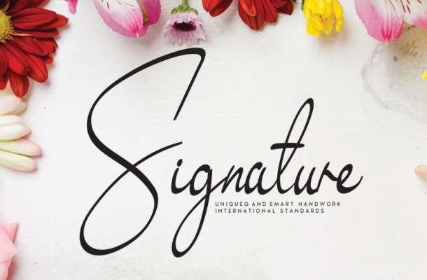 Signature Exquisite Handwritten Font