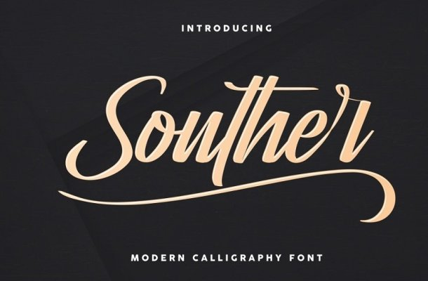 Souther Brush Script Font