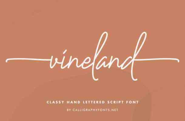 Vineland Handwriting Font
