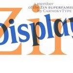 Zin Display Typeface