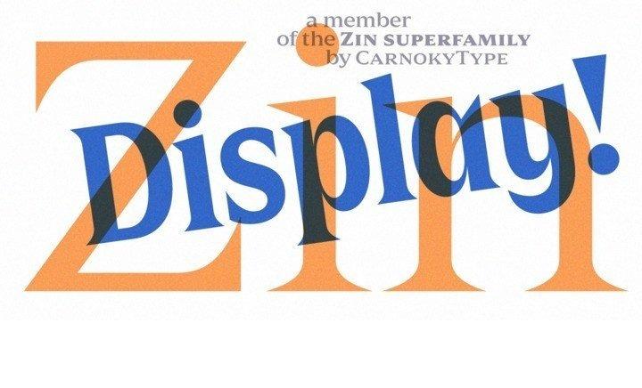 Zin-Display-Typeface