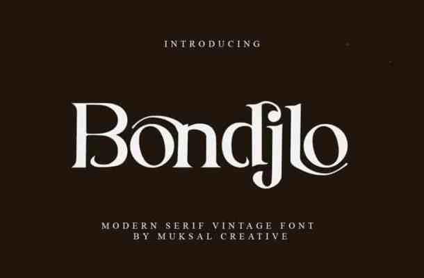 Bondjlo Serif Font