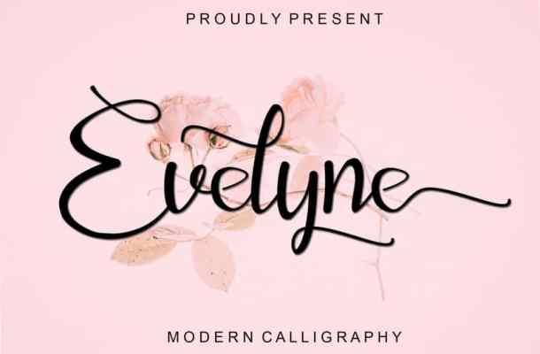 Evelyne Calligraphy Font