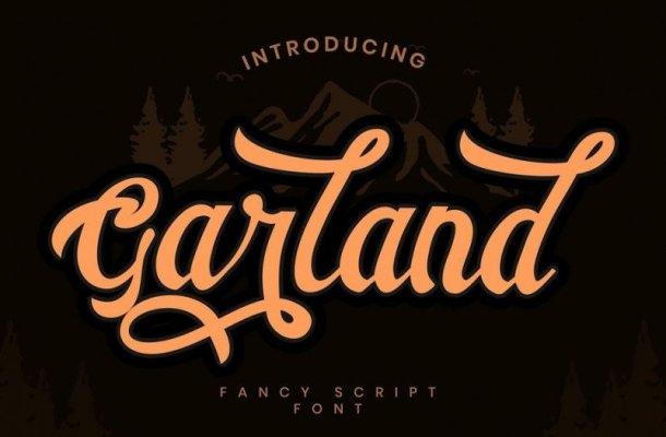 Garland Script Font