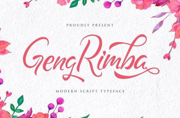 Geng Rimba Script Font