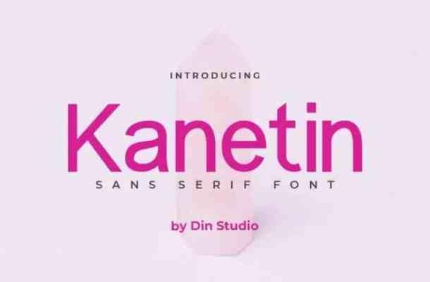Kanetin Sans Serif Font