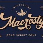 Macrosty Script Font