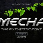 Mecha Display Font