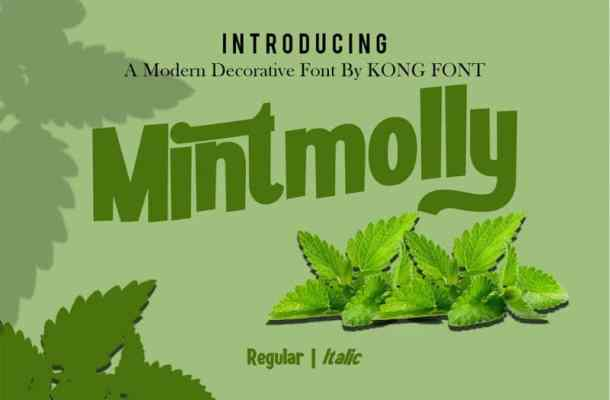 Mintmolly Display Font