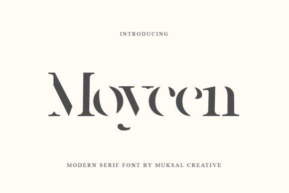 Moycen Display Font