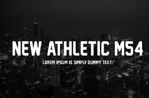 New Athletic M54 Display Font