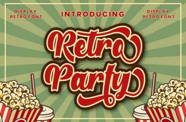 Retro Party Script Font