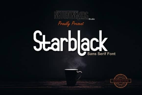 Starblack Sans Serif Font