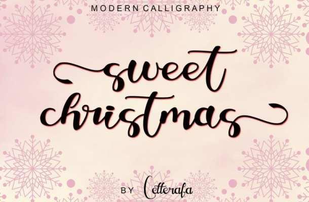 Sweet Christmas Calligraphy Font