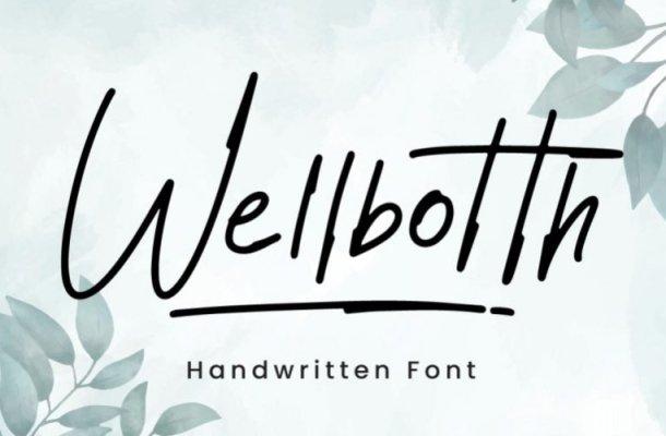 Wellbotth Script Font