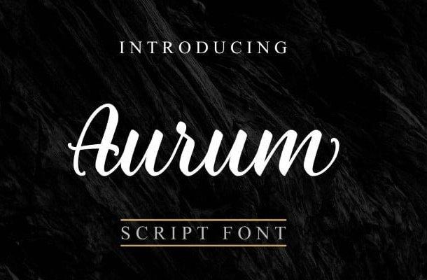 Aurum Script Font