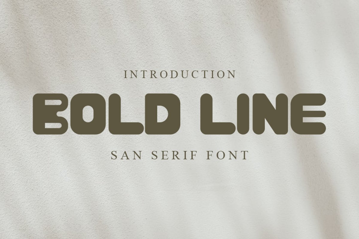 BOLD-LINE-Font