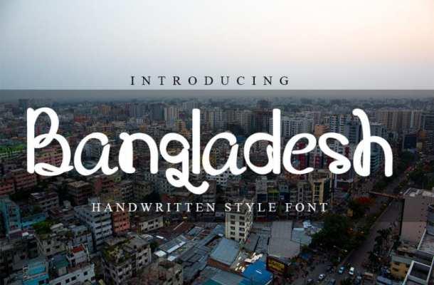 Bangladesh Script Font
