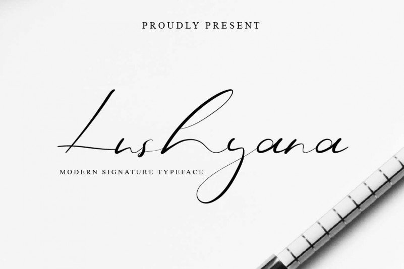 Lushyana Signature Font