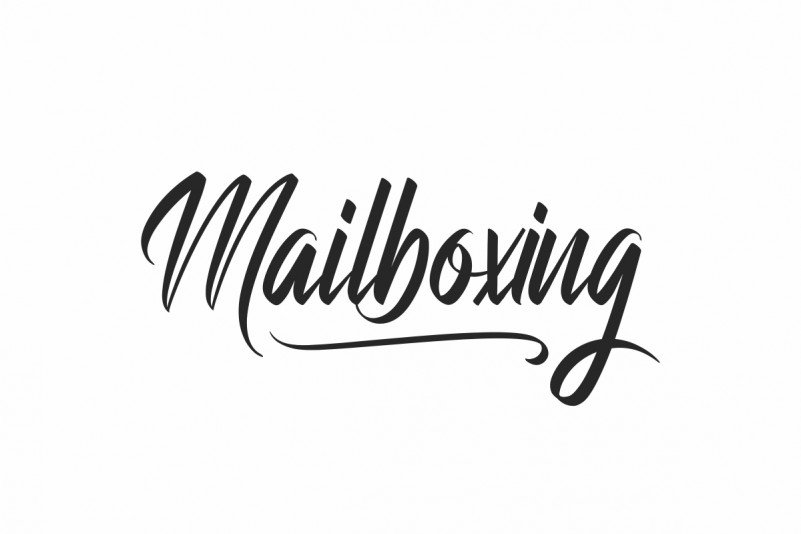 Mailboxing Brush Font