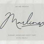 Marlines Signature Font