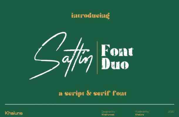 Sattin Font
