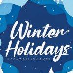 Winter Holidays Script Font