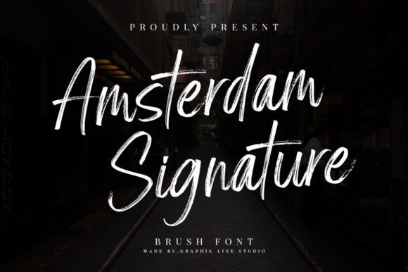 Amsterdam Signature Brush Font