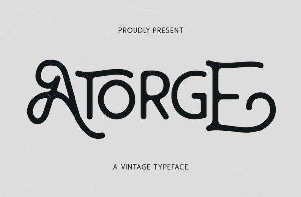 Atorge Display Font