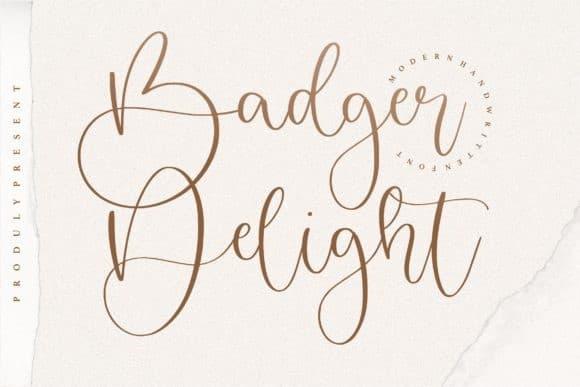 badger-delight-script-font