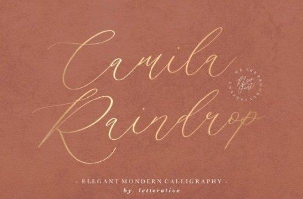 Camila Raindrop Script Font